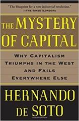 Book cover - the mystery of capital